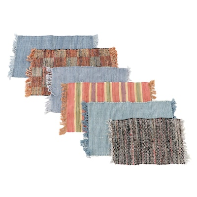 Handwoven Pottery Barn and Pier 1 Imports Indian Accent Rag Rugs