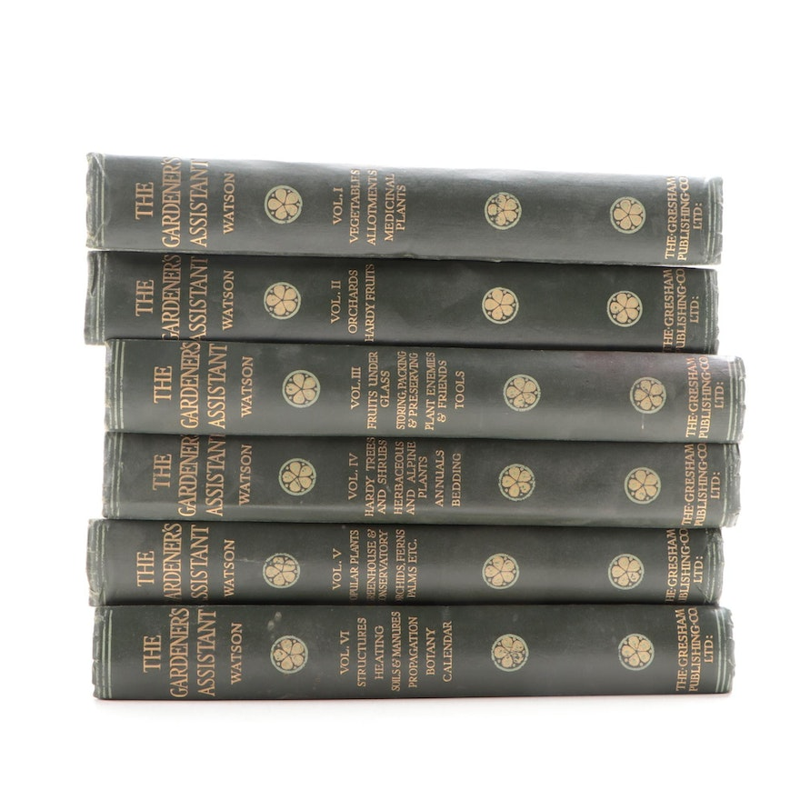 """""""The Gardener's Assistant"""" Six-Volume Set Edited by William Watson, 1925"""