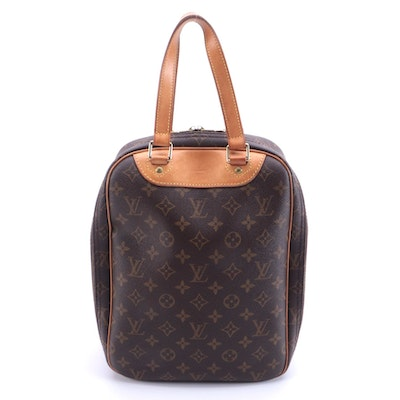 Louis Vuitton Excursion Travel Bag in Monogram Canvas with Vachetta Leather Trim