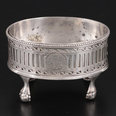 Georgian William Abdy I Sterling Silver Salt Cellar with Insert, 1783