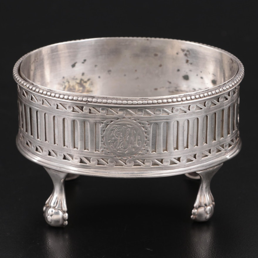 Georgian William Abdy I Sterling Silver Salt Cellar with Insert, 1783
