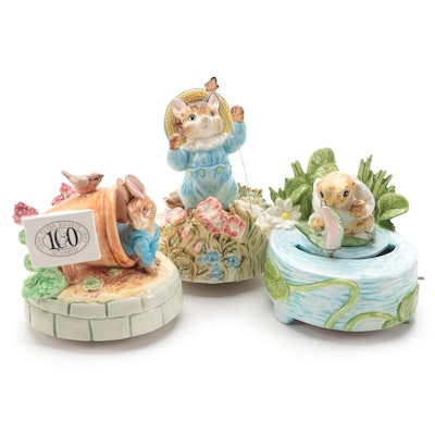"Schmid ""Peter Rabbit"" and Other Beatrix Potter Musical Figurines"
