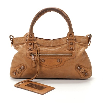 Balenciaga Two-Way Motorcycle First Bag in Automne Agneau Leather