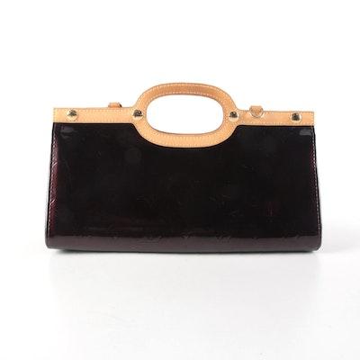Louis Vuitton Roxbury Drive Handbag in Amarante Monogram Vernis