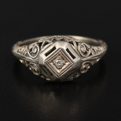 Edwardian Diamond Wirework Ring