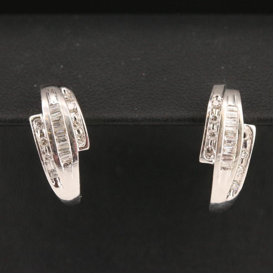 10K Channel Set Diamond Earrings