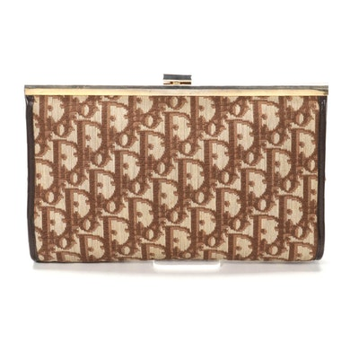 Christian Dior Frame Clutch in Dior Oblique Canvas
