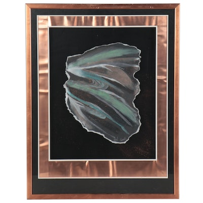 """Abstract Pastel Drawing """"Comet,"""" Late 20th Century"""