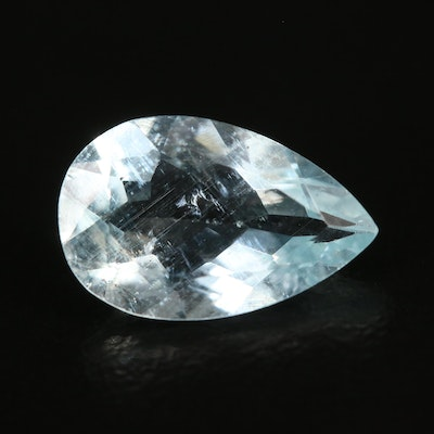 Loose 2.47 CT Pear Faceted Aquamarine