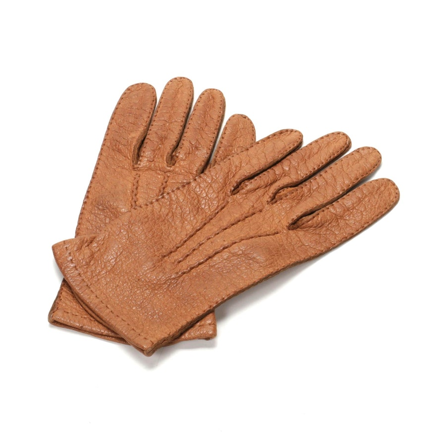 Hermès Gloves in Peccary Leather