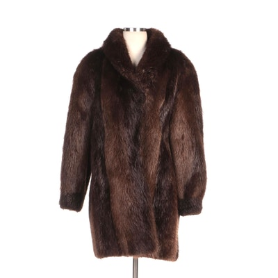 Beaver Fur Coat with Shawl Collar from Evans Fur at Lazarus
