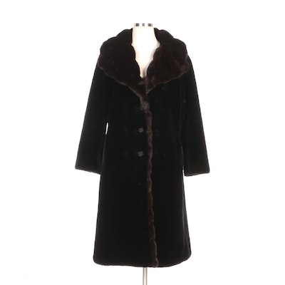 Lord & Taylor Borgana Faux Fur Coat with Shawl Collar