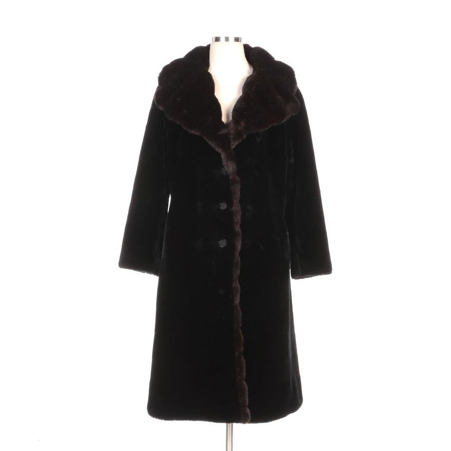 Lord & Taylor Borgana Faux Fur Coat with Shawl Collar