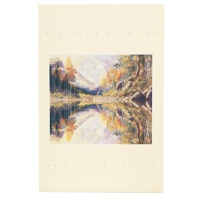 """Offset Lithograph Poster after Bev Doolittle """"Wilderness! Wilderness?"""""""