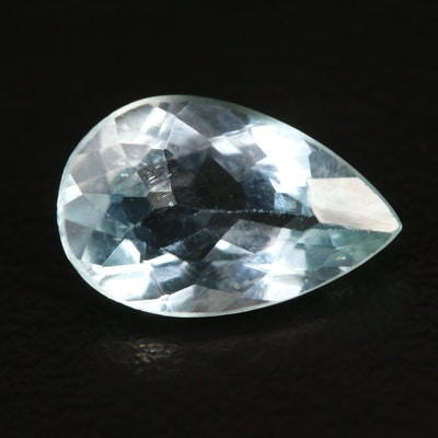 Loose 2.55 CT Pear Faceted Aquamarine