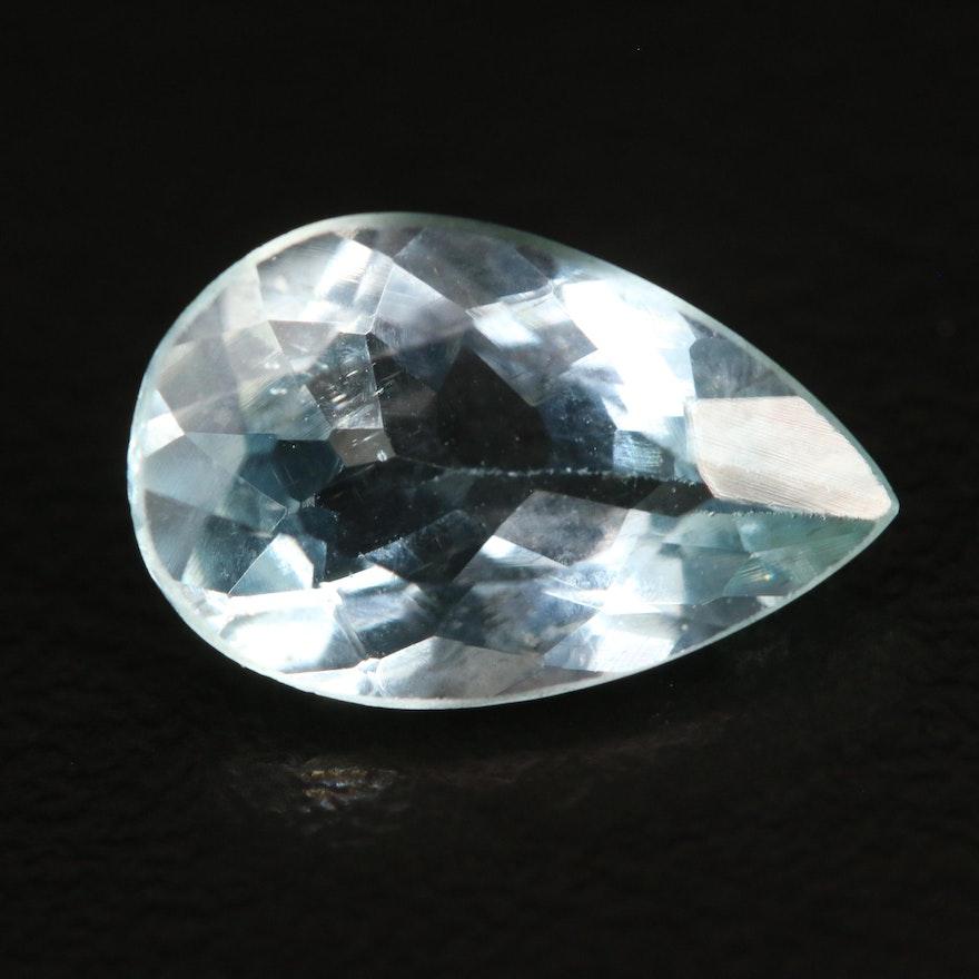 Loose 2.55 CT Pear Faceted Aquamarine