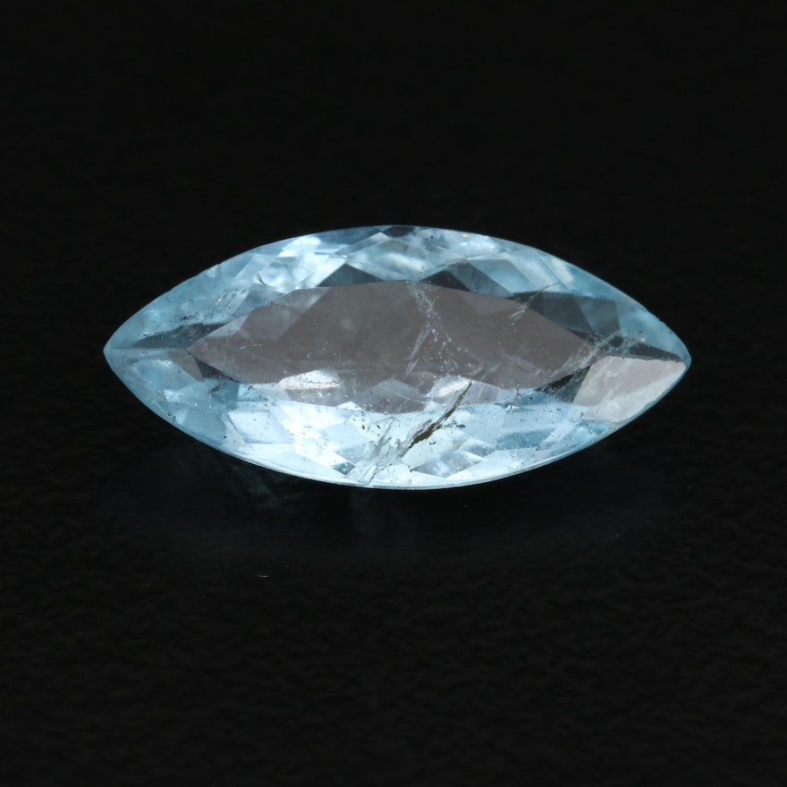Loose 2.86 CT Marquise Faceted Aquamarine