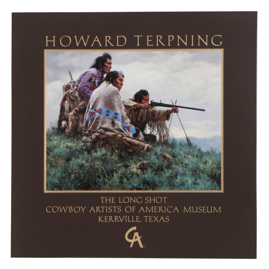 """Howard Terpning Offset Lithograph Poster """"The Long Shot,"""" Late 20th Century"""