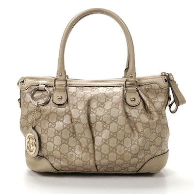 Gucci Guccissima Metallic Leather Shoulder Bag
