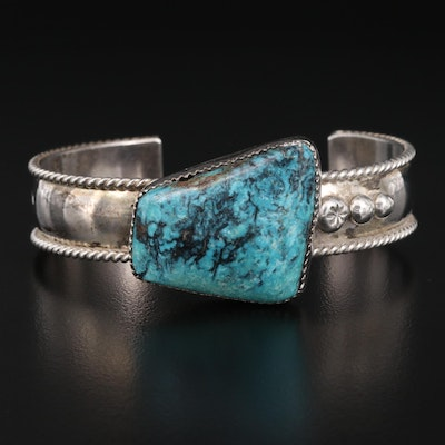Vintage Robert Nofchissey Navajo Diné Sterling Turquoise Cuff