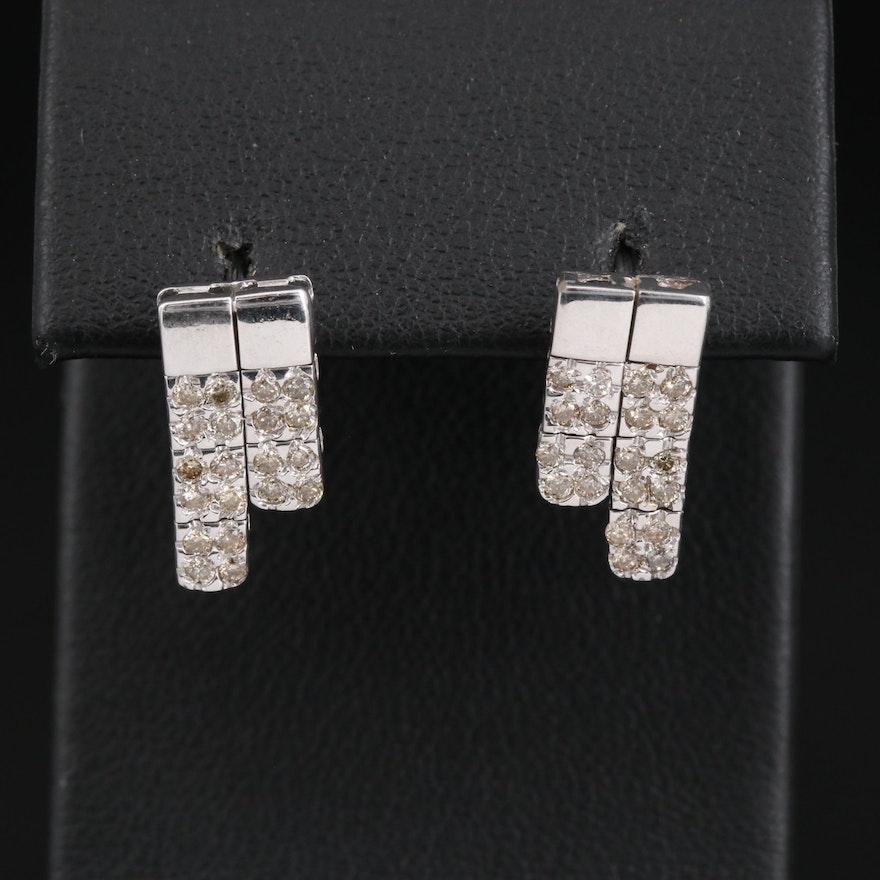 18K Diamond Link Earrings