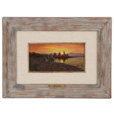 """Frank Magsino Acrylic Painting """"Almost Home,"""" 1994"""