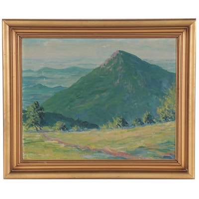 Alfred Winfield Strahan Landscape Oil Painting, Late 20th Century