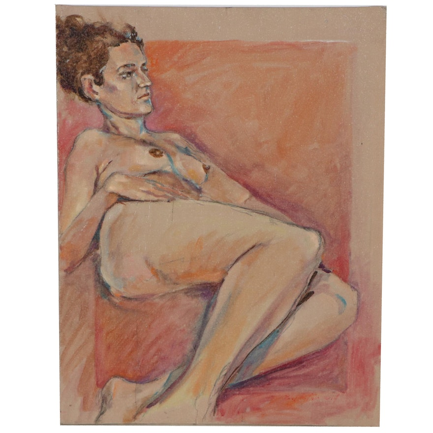 Raymond Zaplatar Oil Painting of Female Figure, 2014