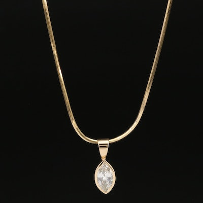 14K 1.03 CT Diamond Pendant Necklace