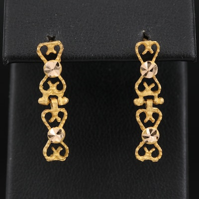 18K Link Earrings