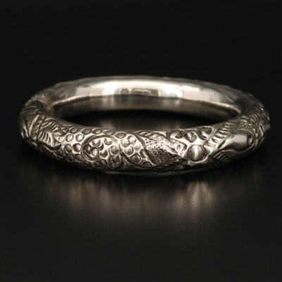 Repoussé Rattle Bangle