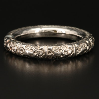 Repoussé Jingle Bangle
