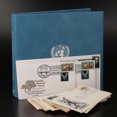 UN Sterling Silver Medallic First Day Covers and Other Assorted First Day Covers