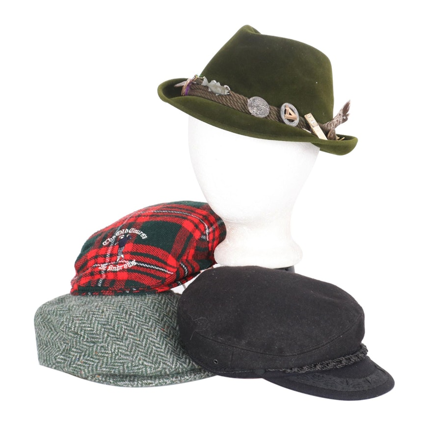 Men's P&C Habig Austrian Alps Hat, St. Andrew's Wool Flat Cap and More
