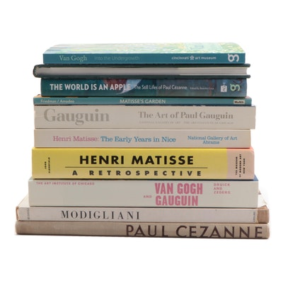 Art Reference Books Including Gauguin, Cézanne, and Modigliani