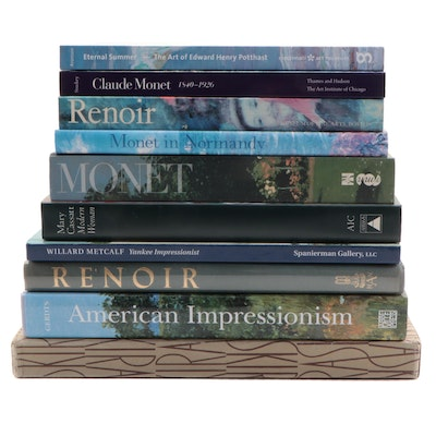 French and American Impressionists Art Reference Books