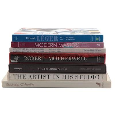 Art Books Featuring Georgia O'Keeffe, Willem De Kooning and Robert Motherwell
