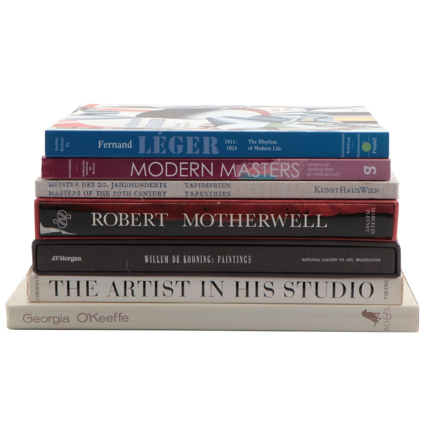 Art Books Featuring Georgia O'Keeffe, Willem De Kooning and Robert Motherwell