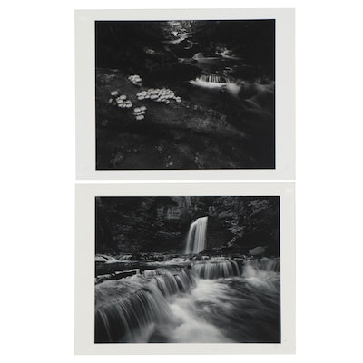 William D. Wade Silver Gelatin Photographs of Waterfalls, Late 20th Century