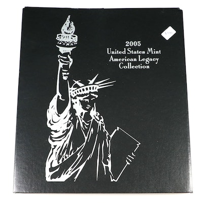 "2005 United States Mint ""American Legacy Collection"" Proof Coin Set"