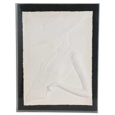 """David Fisher Embossed Paper Composition """"Sophisticated Lady"""""""