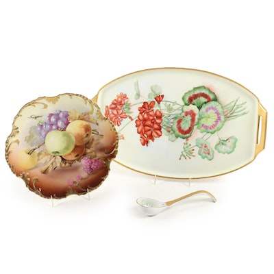 Hobbyist Hand-Painted Royal Munich and Other German Porcelain Tableware
