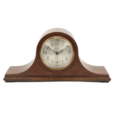 Sessions Eight Day Electric Westminster Chime Tambour Mantle Clock, Mid-20th C.