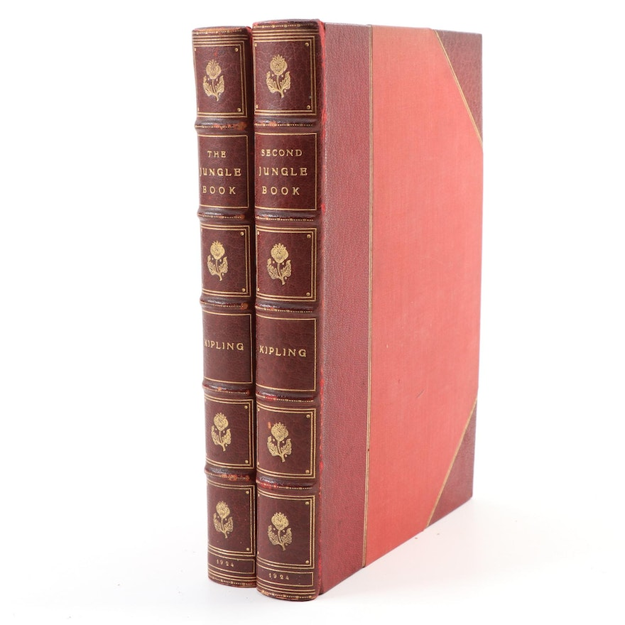"""The Jungle Book"" Two-Volume Set by Rudyard Kipling , 1924"