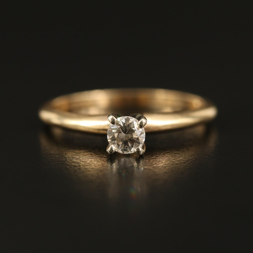 14K 0.20 CTW Diamond Solitaire