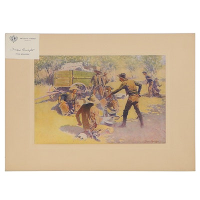 "Offset Lithograph after Frederic Remington ""The Quarrel"""