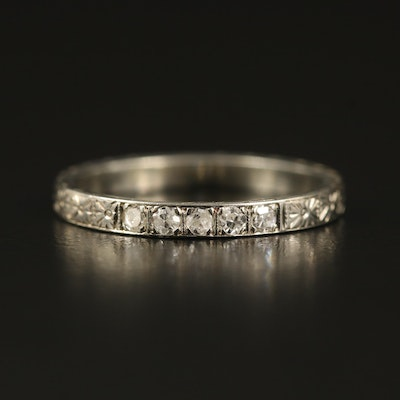 Art Deco 18K Diamond Band