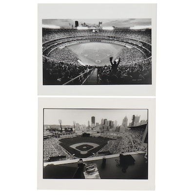 William D. Wade Silver Gelatin Prints of Three Rivers Stadium and PNC Park