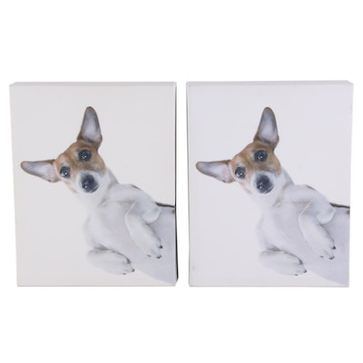 Offset Lithographs of Jack Russell Terriers