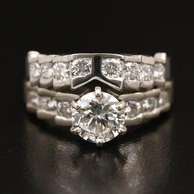 14K 2.58 CTW Diamond Ring and Shadowband